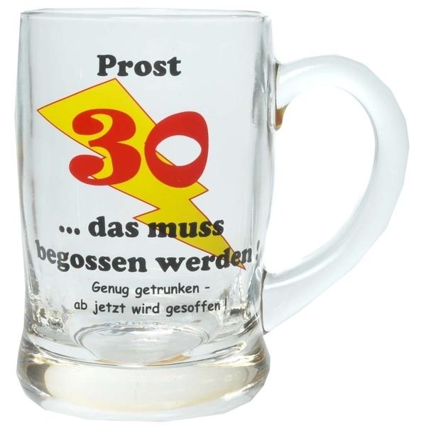 Bierseidel Prost 30 Geschenkartikel Zum 30 Geburtstag