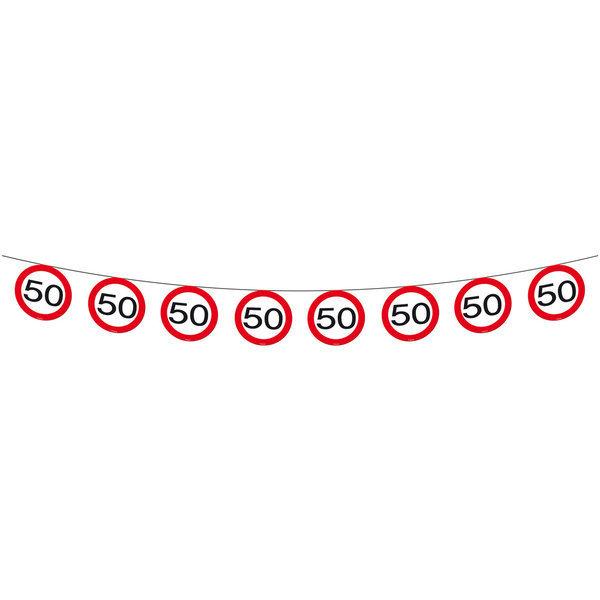 Schilder Girlande 50 Partydeko Zum 50 Geburtstag Jetzt Bestellen