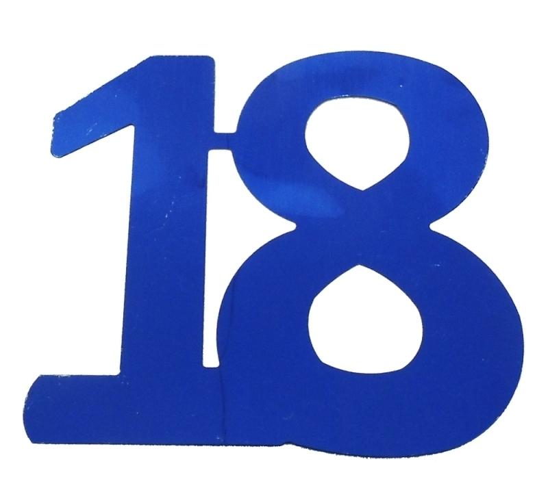 Flitterzahl 18 Blau Fur Tischdeko Zum 18 Geburtstag Bestellen