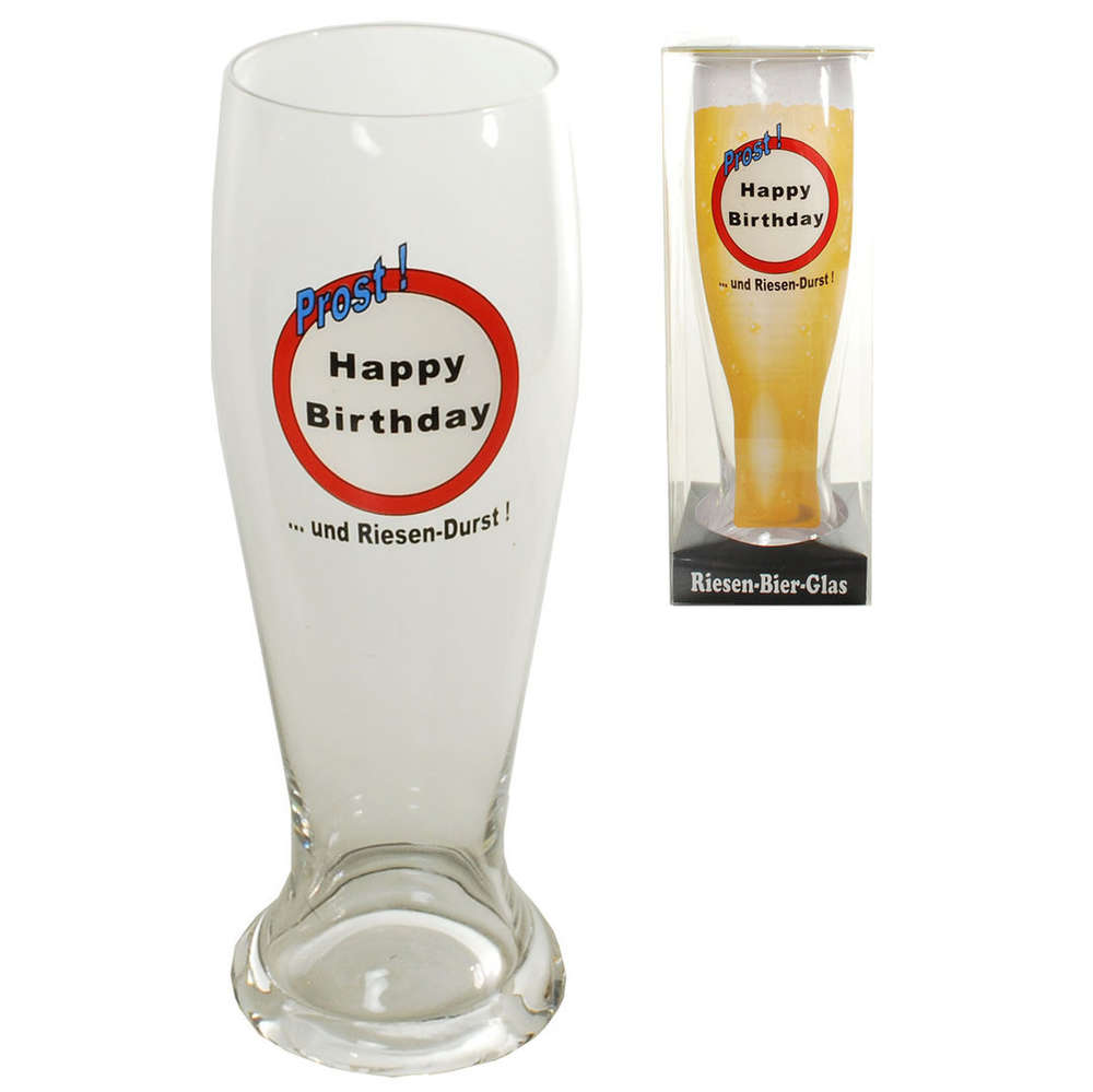 Riesen Bierglas Happy Birthday Zum Geburtstag Jetzt Bestellen