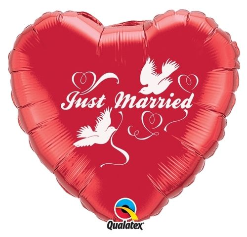 "Folienballon ""Just Married"""