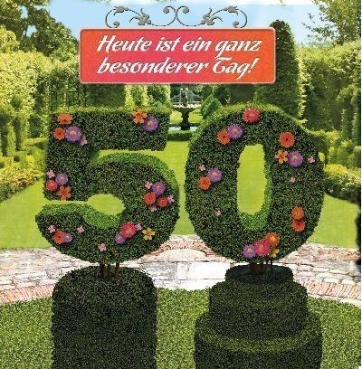 Karte 50 Geburtstag.Gluckwunschkarte 50 Mit 3d Effekt Zum Geburtstag Bestellen