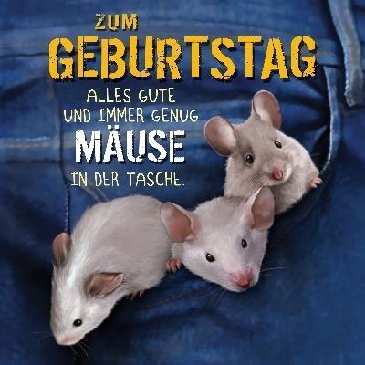 Glückwunschkarte Mäuse Mit 3d Effekt