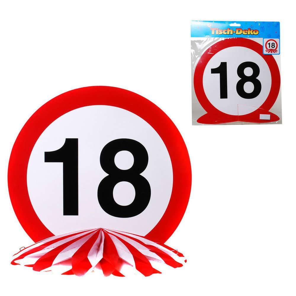 Tischdeko Mit Zahlenaufdruck 18 Zum 18 Geburtstag Bestellen