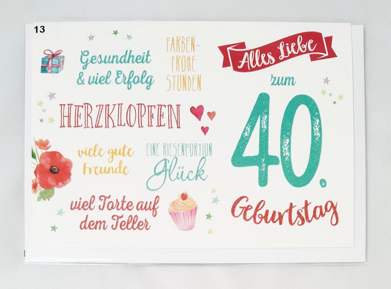 Geburtstagsglückwünsche Zum 40. Geburtstag