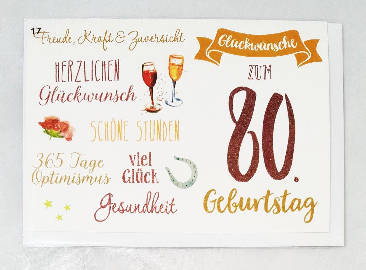 Spruch Zum 80 Geburtstag