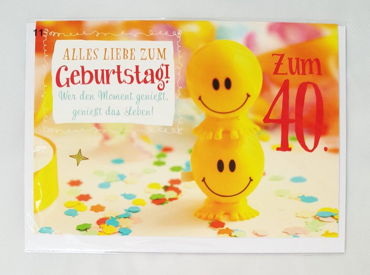 Geburtstags Glückwünsche Zum 40