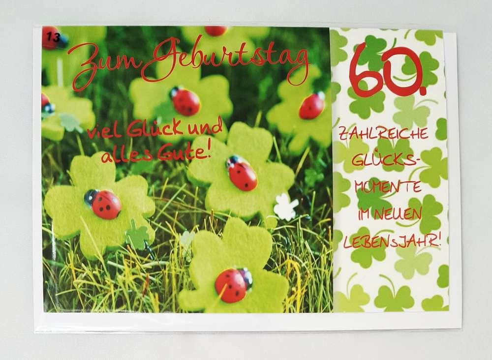 Gluckwunschkarte 60 Geburtstag Grusskarte Zum 60 Geburtstag