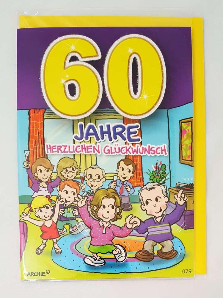 Gluckwunschkarte 60 Jahre Zum 60 Geburtstag Kaufen