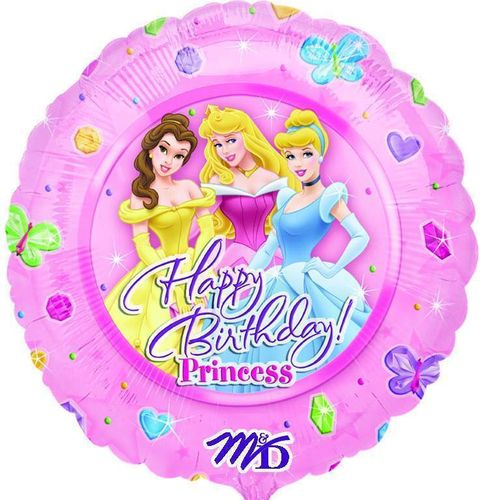 "Folienballon ""Happy Birthday Princess"""