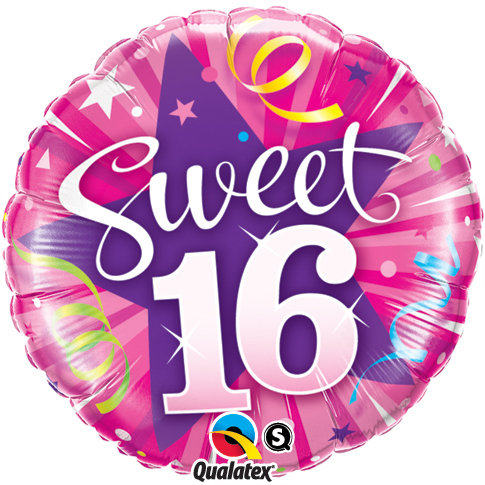 "Folienballon ""Sweet 16"""