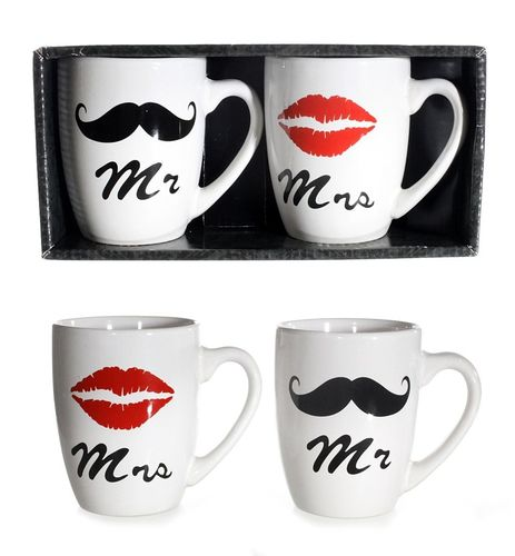 "Becher-Set ""Mr. & Mrs."""