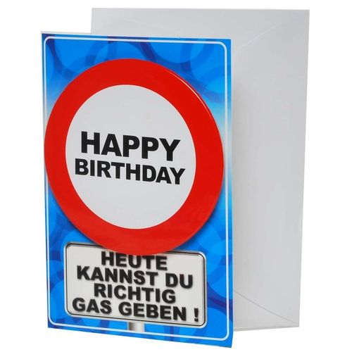 "Karte mit Button ""Happy Birthday"""