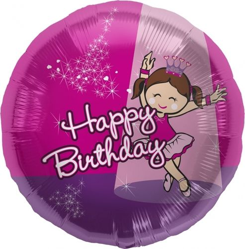 "Folienballon ""Birthday Ballerina"""