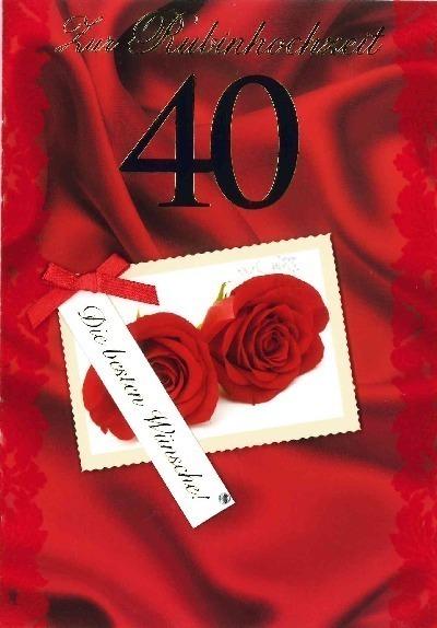 Gluckwunschkarten 40 hochzeitstag