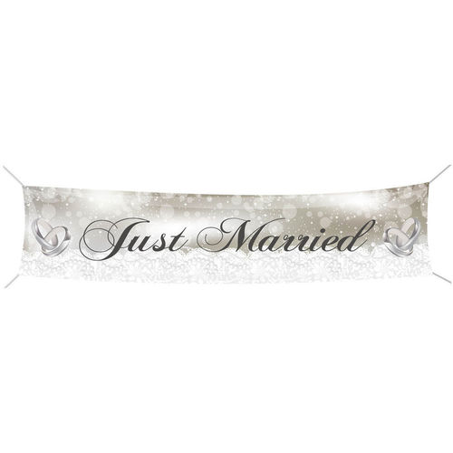 "Riesen-Banner ""Just married"""