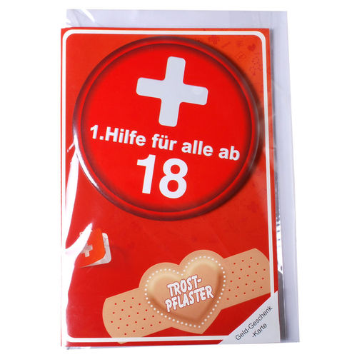 "Karte mit Button ""18"""