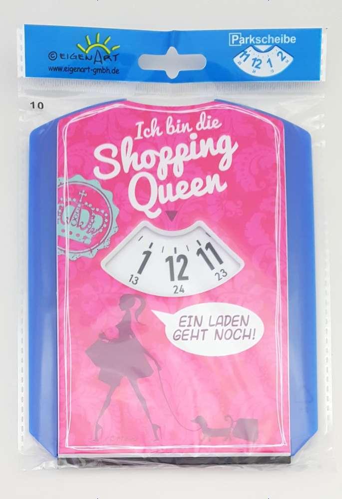 Parkscheibe Mit Spruch Shopping Queen Jetzt Bestellen