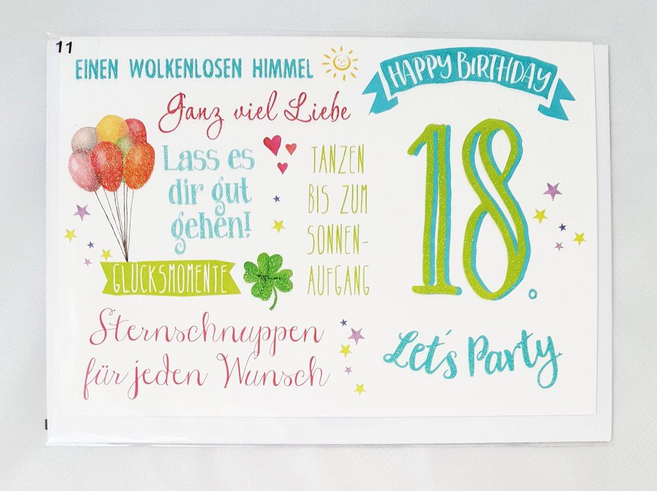 Endlich 18 Geburtstagskarten Spruche Echte Postkarten