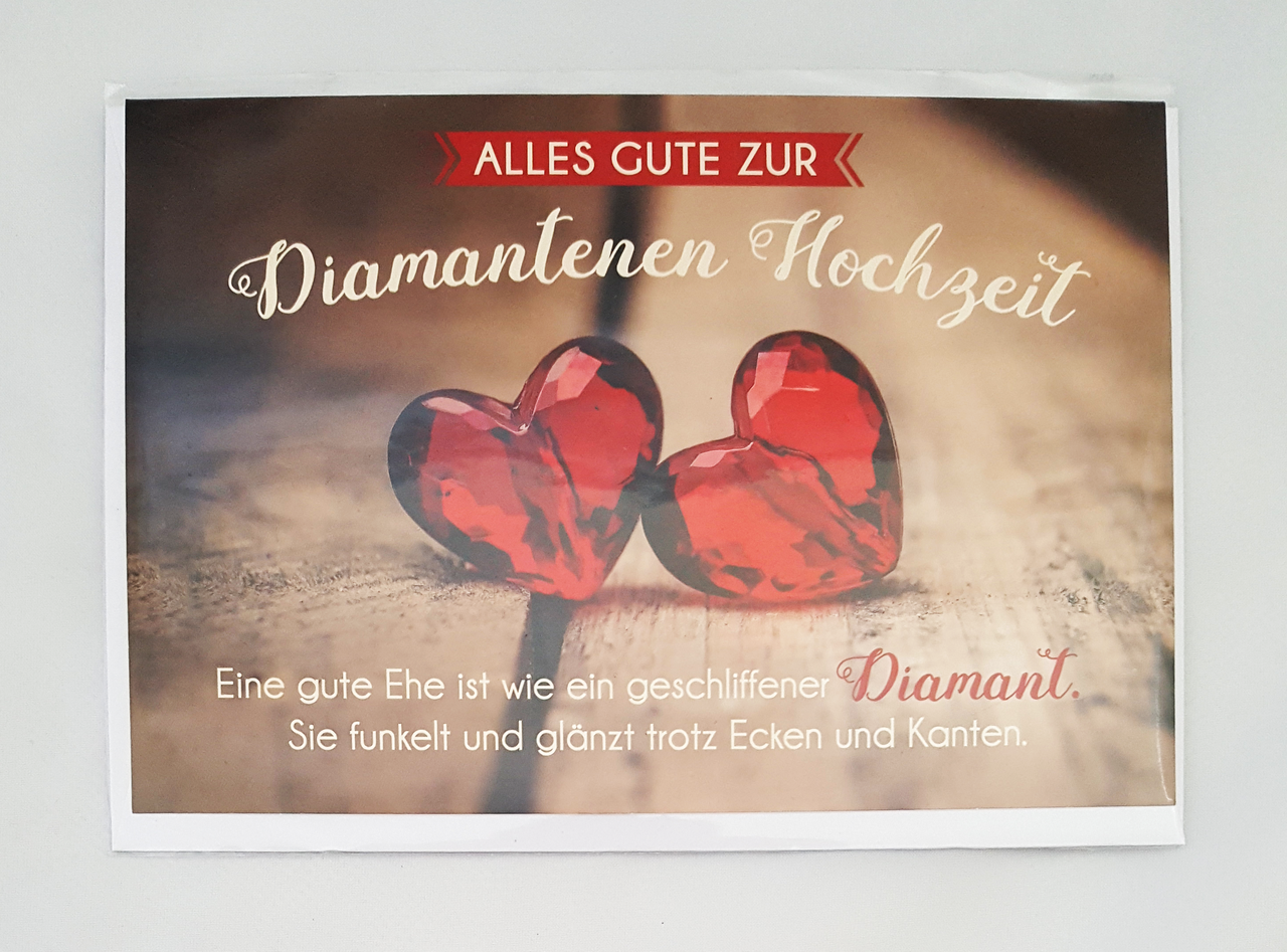 Glückwunschkarte Zur Diamantenen Hochzeit Grußkarte kaufen