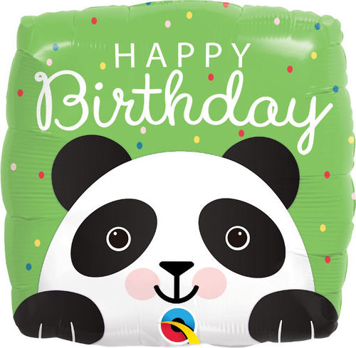 "Folienballon ""Happy Birthday Panda"""